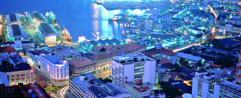Port de Colombo de nuit