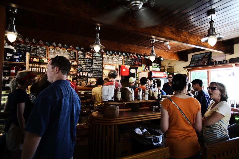 Intérieur d'un bar