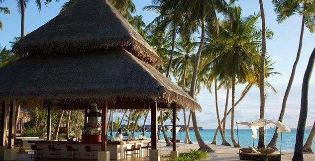 Bar de plage Maldives